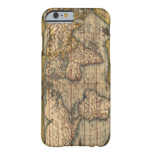 Vintage World Map by Abraham Ortelius 1564 Barely There iPhone 6 Case