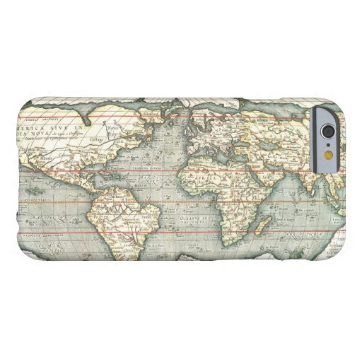 Vintage World Map by Abraham Ortelius 1587–1595 Barely There iPhone 6 Case