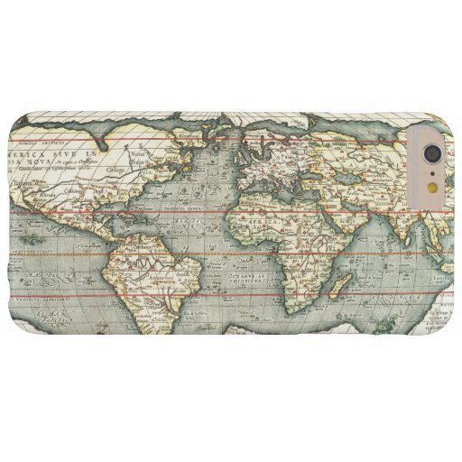 Vintage World Map by Abraham Ortelius 1587–1595 Barely There iPhone 6 Plus Case