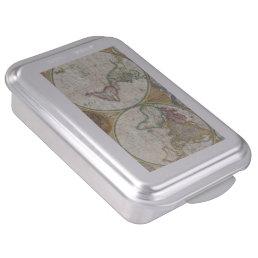 Vintage World Map Cake Pan
