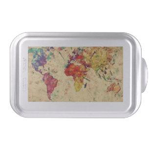 Map cake pans zazzle vintage world map cake pan gumiabroncs Images