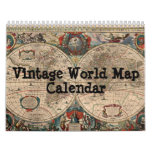 Vintage World Map Calendar
