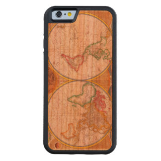 Vintage World Map Carved Cherry iPhone 6 Bumper Case