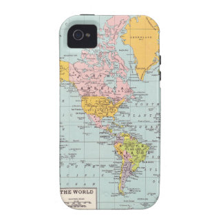 Vintage World Map iPhone 4 Covers