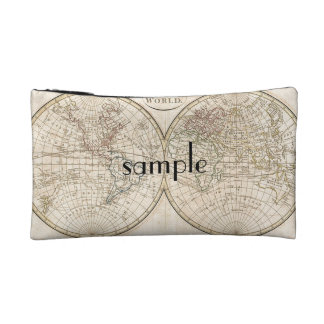 Vintage World Map Cosmetic Bag