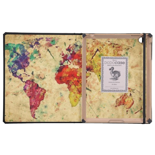 Vintage world map covers for iPad