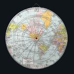 "Vintage World Map Dartboard<br><div class=""desc"">colorful vintage world map</div>"