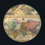"Vintage World Map Dartboard<br><div class=""desc"">World Map -- the Planisphere A highly colorful world map from the 1700s, this world map print is from an authentic map originally published in 1780. It shows the world in vibrant full color. The world map continents are quite well rendered for being drawn 250 years ago. This beautiful world...</div>"