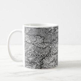 Vintage World Map Detail Coffee Mugs