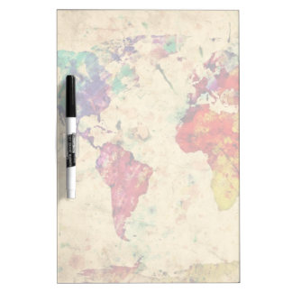 Vintage world map Dry-Erase board