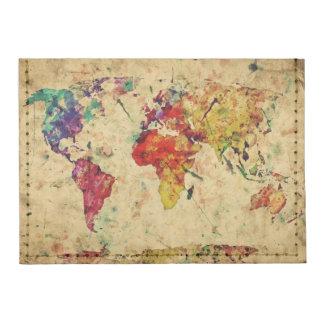 Vintage world map tyvek® card case wallet