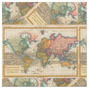 Vintage World Map Fabric on map puzzle pieces, map color, map cross stitch, map facebook covers, map lamp shade, map from europe, map travel, map example, map with states, map in india, map tools, map card, map frame, map tapestry, map table runner, map in europe, map decor, map with mountains, map cornwall uk, map parts,