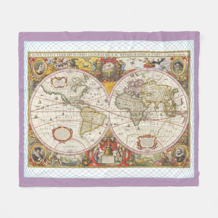 Antique world map throw blanket by admin cp1030624 vintage map of antique old world map gumiabroncs Choice Image