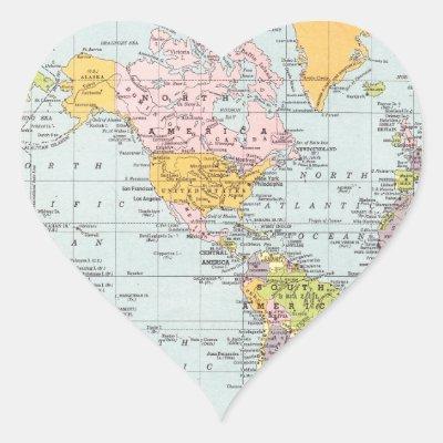 World Map Round Sticker  Zazzlecom