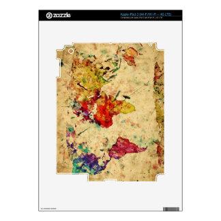 Vintage world map iPad 3 decal