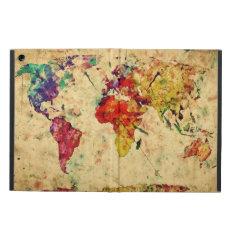 Vintage World Map Ipad Air Cover at Zazzle