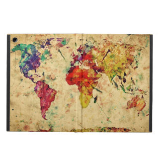 Vintage world map iPad air covers