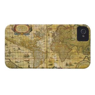 Vintage World Map iPhone 4 Case