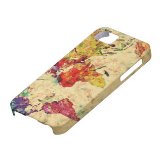 Vintage world map iPhone SE/5/5s case