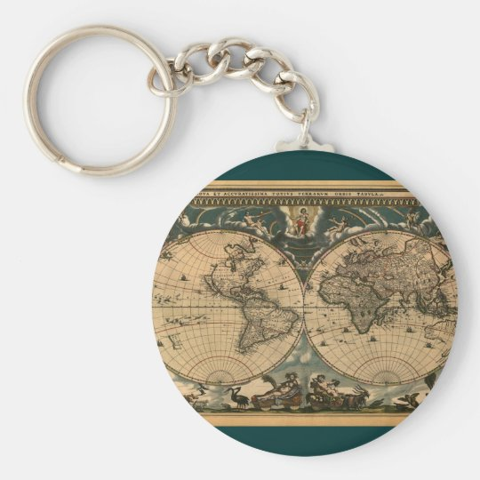 VINTAGE WORLD MAP Key-chain Collection Keychain