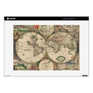 Vintage World Map Laptop Skin