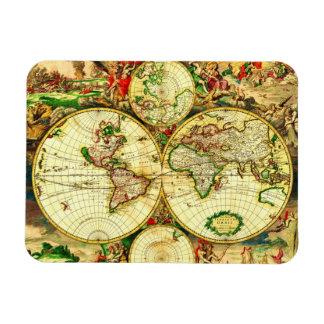 Vintage World Map Magnet