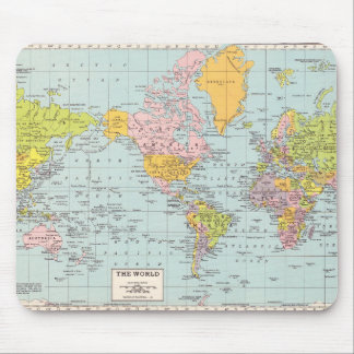 Vintage World Map Mouse Pad