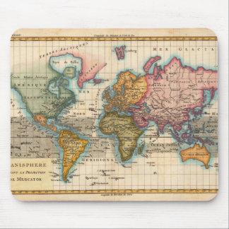 Vintage World Map Mousepad