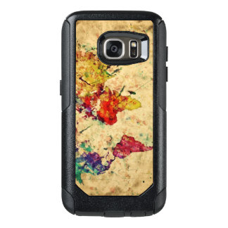 Vintage world map OtterBox samsung galaxy s7 case