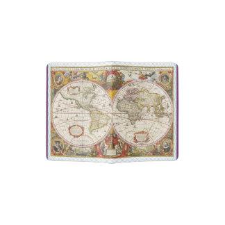 Vintage World Map Passport Holder