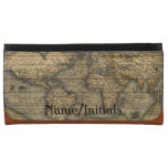 Vintage World Map Personalized Wallet