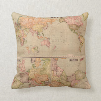 Vintage World Map Pillow