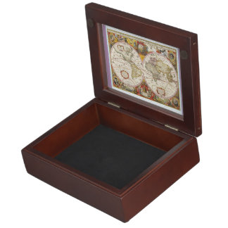 Vintage World Map Memory Boxes
