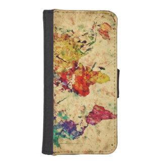 Vintage world map phone wallet cases