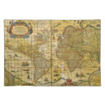Vintage World Map Place Mats