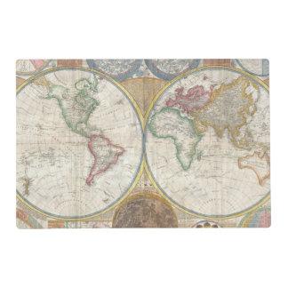 Vintage World Map Placemat
