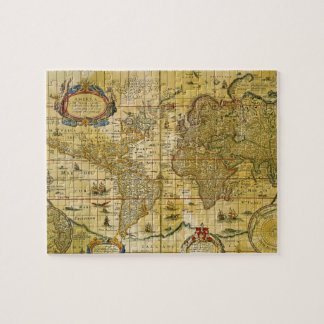 Vintage World Map Puzzles