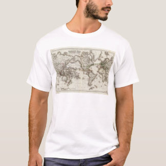 Vintage World Map Showing Telegraph Lines (1871) T-Shirt