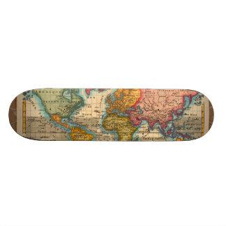 Vintage World Map Skateboard