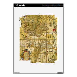 Vintage World Map Skins For iPad 3