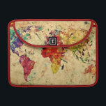 "Vintage world map sleeve for MacBook pro<br><div class=""desc"">Vintage world map  &#169; and &#174; Bigstock&#174; - All Rights Reserved.</div>"