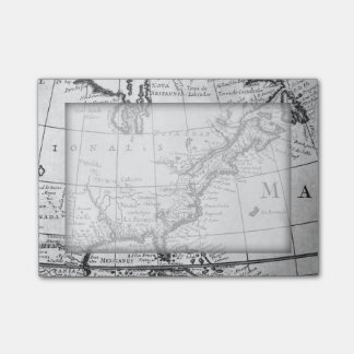 Vintage World Map Sticky Note Pad