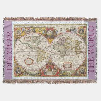 Vintage World Map Throw