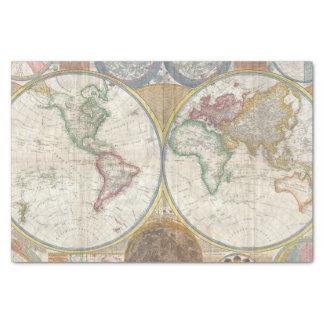 Vintage World Map Tissue Paper