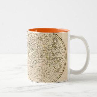 Vintage World Map Two-Tone Coffee Mug