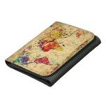 Vintage world map wallets