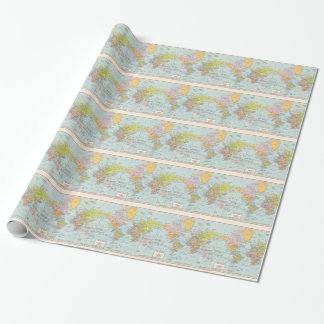 Vintage World Map Wrapping Paper