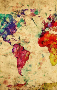 vintage world map zippo lighter