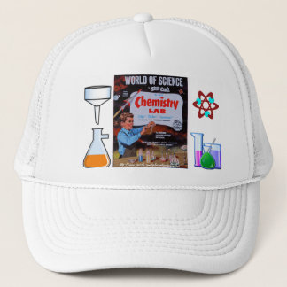 """""""Vintage World of Chem Science-nifty fifties Cap"""" Trucker Hat"""