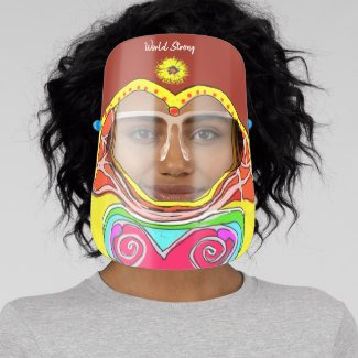 Vintage World Strong  60s Peace and Love Face Shield